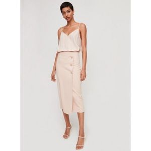 Aritzia Babaton buttoned-up skirt
